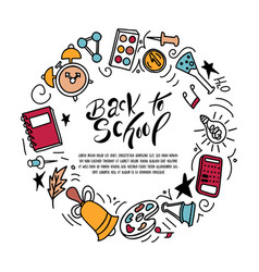 back to shool design elements hand drawn clipart vector image