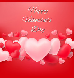 balloon hearts on red vector image