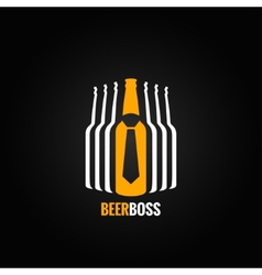 beer bottle boss concept design background vector image