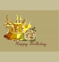 Birthday cake vintage vector