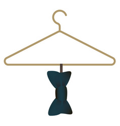 bow tie on hanger icon cartoon style vector image