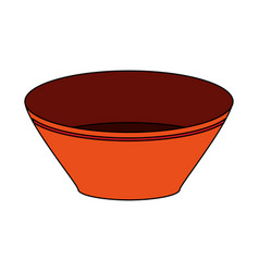 Bowl utensil kitchen icon vector