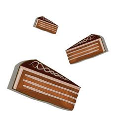 cake chocolate cream colorful dessert fast food vector image