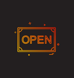 card open shop icon design vector image