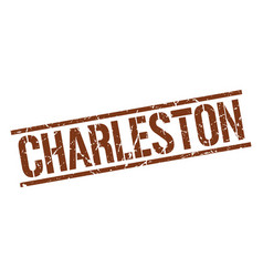 Charleston brown square stamp vector