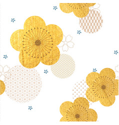 cherry blossom flower seamless background vector image
