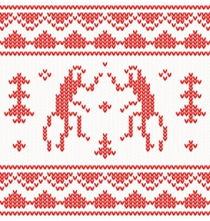 Christmas Knitted background with monkey vector image