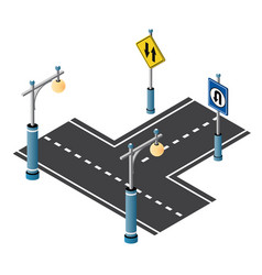city driveway street with road vector image