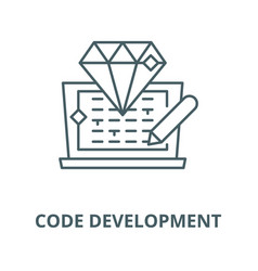 code development line icon code vector image