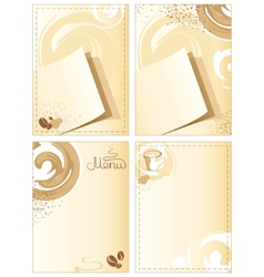 Coffee backgrounds vector