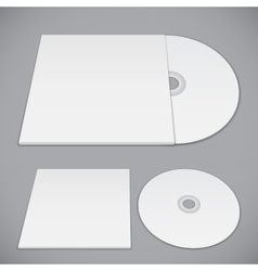 Compact Disk Template vector image