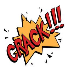 crack comics text vector image