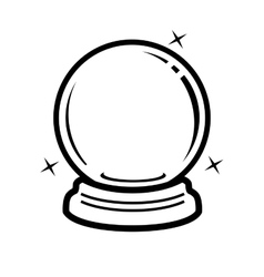 Crystal ball icon vector