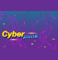 Cyberpunk banner vector