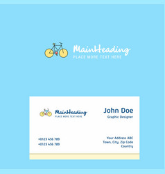 cycle logo design with business card template vector image