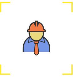 Engineer color icon vector