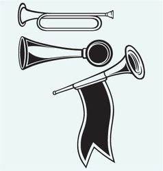 Fanfare and wind musical vector image