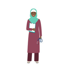 female character of neuropathist vector image