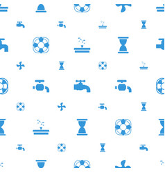 Flow icons pattern seamless white background vector