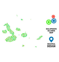 Gears galapagos islands map composition vector
