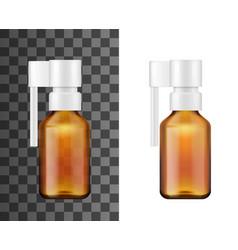 glass spray bottle throat or nasal medicines vector image