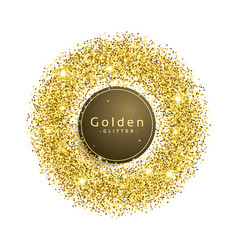 glitter sparkles background in circle shape vector image