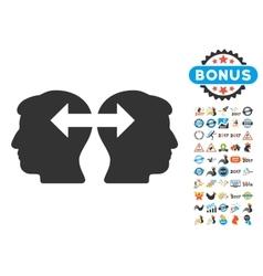 Heads Exchange Arrows Icon With 2017 Year Bonus vector