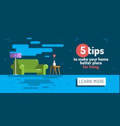 Home indoor interior flat web vector