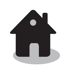 home or house simple flat black icon real estate vector image