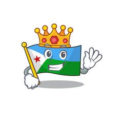 King indonesian flag djibouti on cartoon character vector