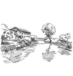 Ladnscape vector image