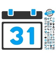 Last Month Day Flat Icon With Bonus vector