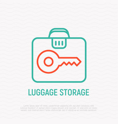 Luggage storage thin line icon vector