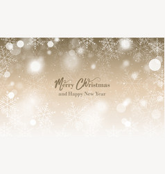 Merry christmas and happy new year wishes blurred vector