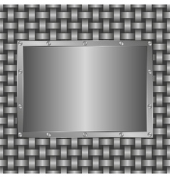 metalic panel vector image