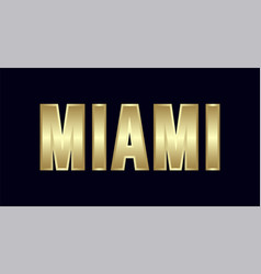 Miami city typography design greetings for vector