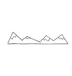 Mountains doodle style vector