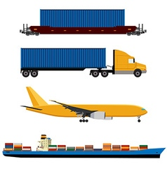 network logistics vector image