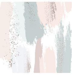 Pastel green peach glitter pattern brush stroke vector