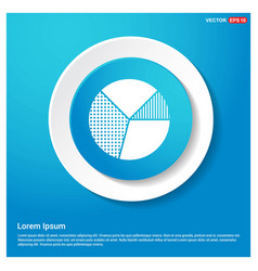 pie graph icon abstract blue web sticker button vector image