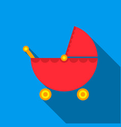 Pram flate icon for web and mobile vector