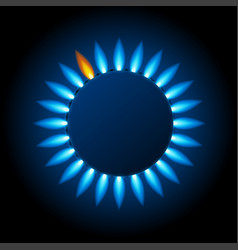 realistic detailed 3d natural gas flame kitchen vector image