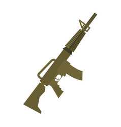 rifle isolated machine gun on white background vector image
