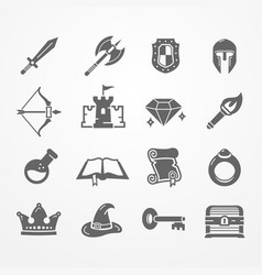 Rpg pc game icons vector