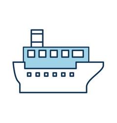 Sea transportation logistic maritime shipping vector