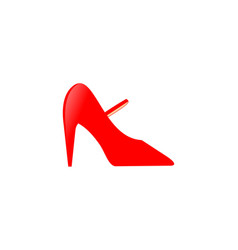shoes high heels logo vector image