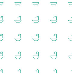 Shower icon pattern seamless white background vector