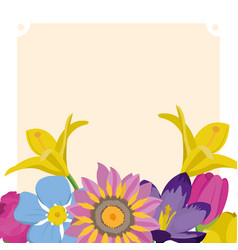 Spring nature design vector