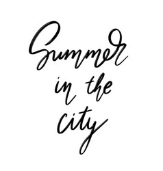 Summer in city hand drawn lettering vector