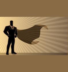 super businessman background vector image